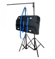 C050 - Background support Kit - wide 301 cm (telescopic) - height 252~100 cm (2x stands FP2600, crossbar P123, carry bag) - elfo