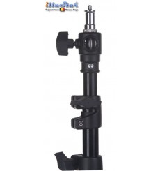LS360A - Light stand - air cushioned - 360~107cm - folded 110cm - base ø120cm, tube ø22cm - 4 sections ø40/32/28/24mm - illuStar