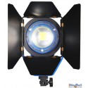 FL-1000 - 100W LED Fresnel Focusable spot, 5500°K, 10000 lm, 4 black barn-doors