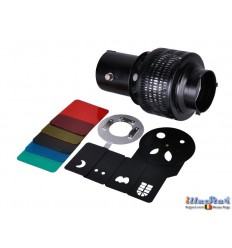 OS-A135 - Optical spot for studio flash, comes with 5 metal inserts & 5 gels