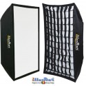 SBUF-70100HC-A135 - Softbox - (Fast foldable like umbrella) - 70x100cm with Diffuser & Honeycomb Grid