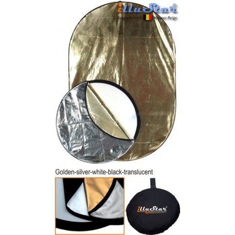 CRK-110 - ø110cm 5in1 round collapsible reflector, (White / Black / Gold / Silver / White Translucent)