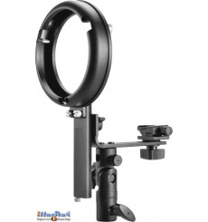 SLBCNBS - Speedlite Bracket type L with Canon/Nikon Hot-shoe for Bowens-S mount - illuStar