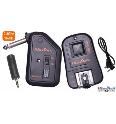 RTU16-JK - Trigger set - 2.4 Ghz - RTU16-HT transmitter with Hot-shoe + RTU16-JR receiver with 6.35mm synchro jack