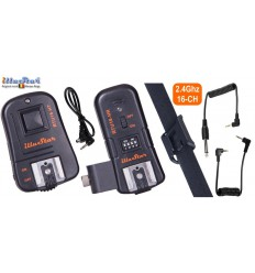 RTU16-HK - 3in1 Trigger set - 2.4 Ghz - RTU16-HT transmitter & RTU16-HR receiver with hot-shoe
