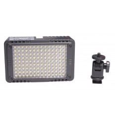 LEDC7W - 7W LED Video & Photo on-Camera Light, 5500°K, 750 lx, For 5 AA batteries / 7.4V Li-ion battery/external: DC 5.8-9V - illuStar