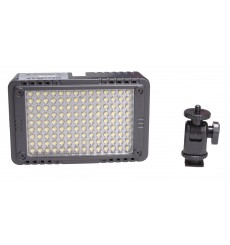 LED Video & Foto camera 7W LEDC-7W - 5500°K - 750 lx - Voor 5 AA batterijen / 7.4V Li-ion batterij / extern: DC 5.8-9V - illuStar