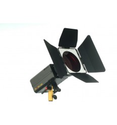 E177 - Barndoor 360° rotating with frame for Colour filter - clicks on reflector MICRO-PRO ø135mm