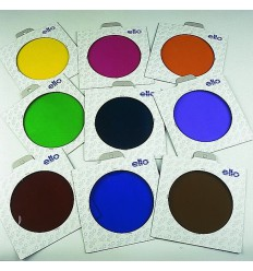 E300 - Colour filter SET : 5 different coloured folic filters in frames ø135mm - elfo