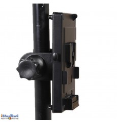 V-Mount Battery holder with tube clamp, for LED Lighting with 2-Pin DIN