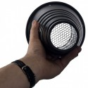 CS-HC-A135 - Conical snoot - PRO - for studio flash with honeycomb