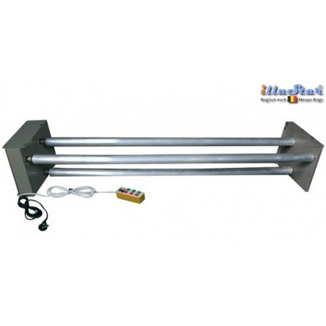 EB-3TR - Electric Background support, 3 motorized aluminium background tubes ø50 mm length 3100 mm - with remote control