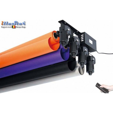 EB-4EWR - Electric Background System - 4 electric motors with Expan for background rolls - Wireless remote control