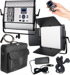 LEDP100PRODMX - LED Video & Photo Studio Lighting 100W + 100W Bi-Color, DMX-512, V-Mount Battery slot, DC 13V-19V - illuStar
