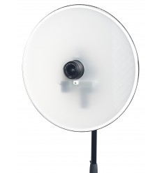 SKT03-ID - Pasfoto Systeem - Softlight reflector met ingebouwde flitser 120 Ws en fototoestel Canon DSLR, pasfoto-software