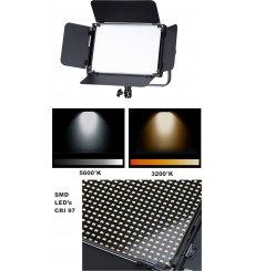 LEDP-120PRO-DMX - Eclairage LED de studio Video & Photo 120W + 120W Bi-Couleur, DMX-512, Support de batterie V-Mount, DC 13V-19V