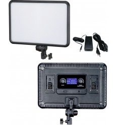 LEDP60 - LED Video & Photo Studio Lighting 60W + 60W Bi-Colour, 2x NP-F750/960 battery slot, DC 13V-17V - illuStar