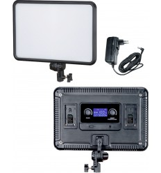 LEDP-30 - LED Video & Photo Studio Lighting 30W + 30W Bi-Colour, 2x NP-F750/960 battery slot, DC 13V-17V