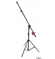 LSB235 - Light boom set - Heavy duty - Stand high 190~100cm, Pivot clamp, Boom arm 240~130cm with G-PESO of 4kg - illuStar