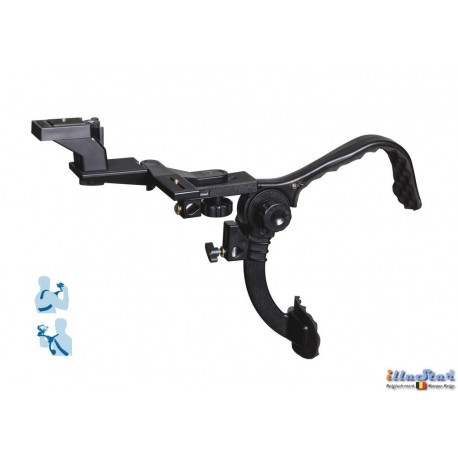 BL-H805 - DSLR / Videocamera (RIG) Shoulder stabilzer bracket - Suitable for placing on a light stand