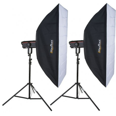 SET-FX-PRO1200-I - 2x FX-1200-PRO digital and stepless variable 1200~37 Ws (Joule), 2x stands 250cm, 2x Softbox 80x120cm
