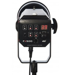 FX-500 - Studio Flash - Digital and stepless 500~15 Ws (Joule) - Cooling fan - E27 250W halogen - Bowens-S adaptor - elfo