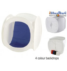 LC-120120 - Lighting cube, 120×120×120cm including 4x changeable background colours