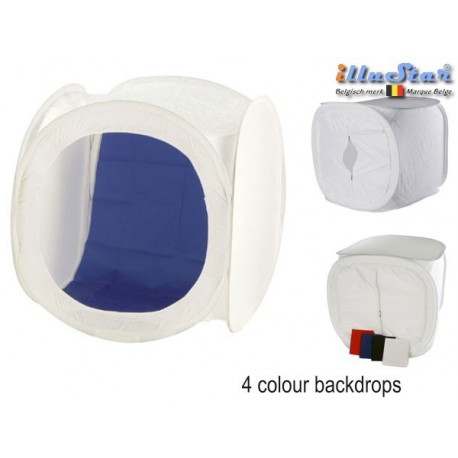 LC-4040 - Lighting cube, 40×40×40cm including 4x changeable background colours