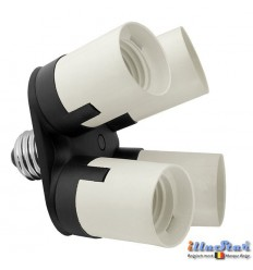 AD14E27 - Adaptor from 1x E27 socket to 4x E27 socket - illuStar
