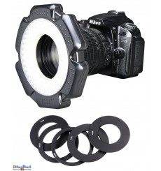 LEDR-10W - 10W LED Ring Lamp for Video & Photo Camera - 5500 ° K - 1200 lm - For 6 AA batteries