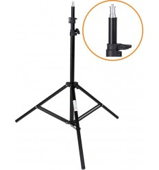 LS-190 - Light stand - 190~65cm, folded 70cm, base ø88cm, 3 sections - tube ø25,3/22/19mm