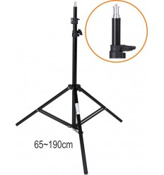 LS-202 - Light stand – 195~65cm, folded 70cm, base ø88cm, 3 sections - tube ø25,3/22/19mm