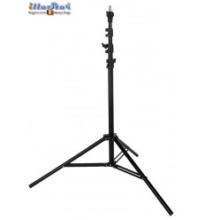 LS280A - Light stand - air cushioned – 280~84cm - folded 84cm - base ø108cm, tube ø22cm - 4 sections ø29,5/26/22,4/19mm - illuStar
