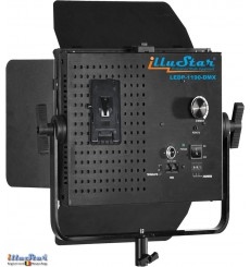 SET-LEDP-1190-DMX - 75W LED Video & Photo Studio Lighting, 5400°K, 9000 lm, DMX-512, V-Mount battery slot, DC 12V~24V