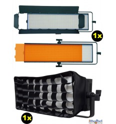 SET-LEDP-2016S-DMX - Eclairage LED 120W de studio Vidéo & Photo, 5400°K, 14400 lm, DMX-512, V-Mount, DC 12V~24V