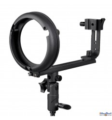 SLBTCNBS - Support flash cobra type T avec sabot flash (Canon/Nikon) pour baïonnette Bowens-S - illuStar