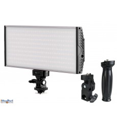 LEDC-30W - 30W LED Studiolamp en Video & Foto cameralamp - Bi-Color - 3000 lm - voor 2x 7.4V Li-ion batterij NP-F550/750/960 / D