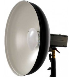 MIQRO-PRO485 - Studio Flash - Digital and stepless variable 250~8 Ws (Joule) with Beauty dish - White ø485mm