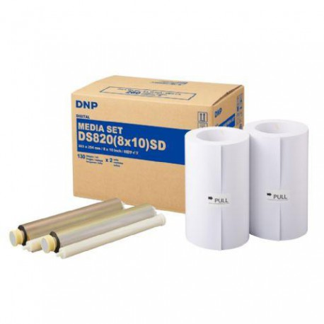 DNP Paper DM810820 2 Rolls with 130 prints 20x25 for DS820
