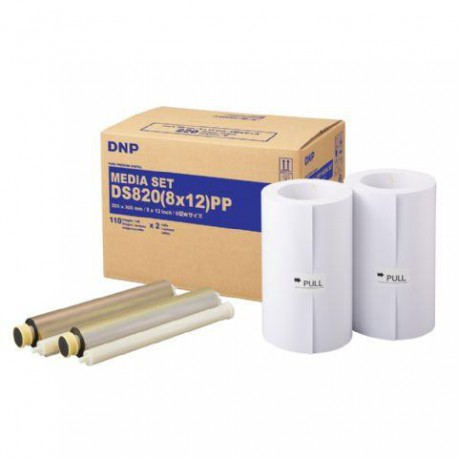 DNP Paper DM812820 Premium 2 Rolls with 110 prints 20x30 for DS820
