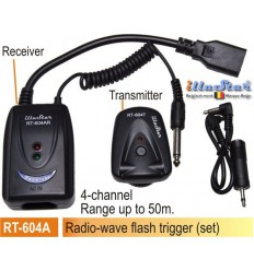 RT-604A - Radio wave Flash Trigger set (Receiver 220V AC + Transmitter) 4-channels