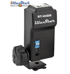 RT-H4DR - Extra Radio wave Receiver with Hot-Shoe 4-channels, (2xAAA 1.5V battery not included) - for RT-H4D