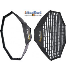 SB120HCA144 - Softbox 2in1 - ø120cm Octagonal with Diffuser & Honeycomb Grid - 360° rotating - foldable - carry bag - illuStar