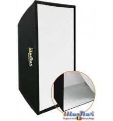 SB70100A144 - Softbox 70x100cm - 360° rotating - foldable - carry bag - illuStar