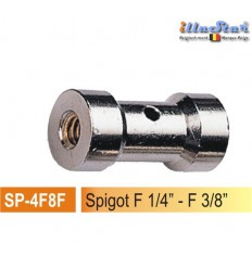"SP4F8F - 5/8"" Spigot - 25mm (female 1/4"" - female 3/8"") - illuStar"