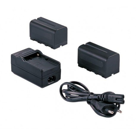 2 x Battery NP-F750 + Battery Charger - Falcon Eyes