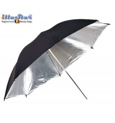 UR80S - Umbrella ø84cm - Silver & Black - illuStar
