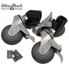 3W22 - Set with 3 casters (lockable) for light stand - tube ø22cm - illuStar