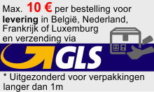 Max. 10€ verzendkosten