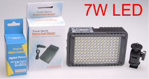 PROMO - 7W LED Video & Foto cameralamp - 49 €